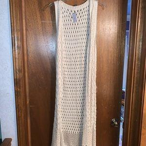 Crocheted Vest Duster